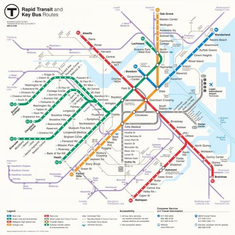 Российский дизайнер придумал схему бостонского метро
