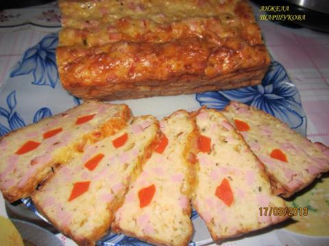 Сырно-колбасный хлебец