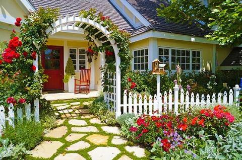 Красивый палисадник перед домом — 50 фото идей для вдохновения