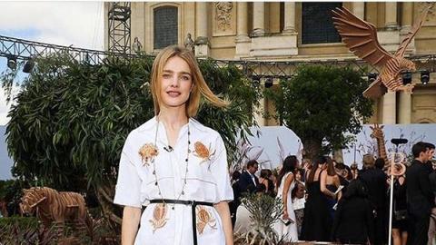 Образ дня: Наталья Водянова в Dior