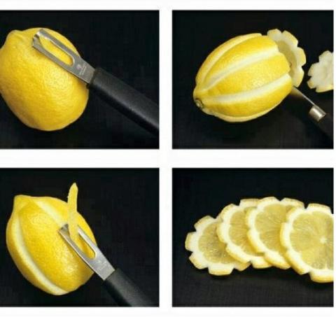 Нарезаем лимон красиво