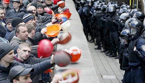 Украинские шахтеры угрожают …