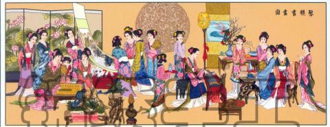 Схема вышивки крестом 12 японок