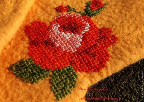 Мастер-класс — несколько секретов вышивки крестом по войлоку