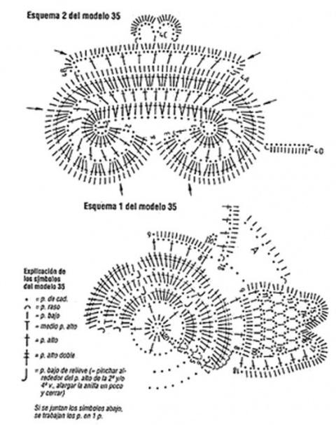 Салфетки, связанные крючком, со схемами