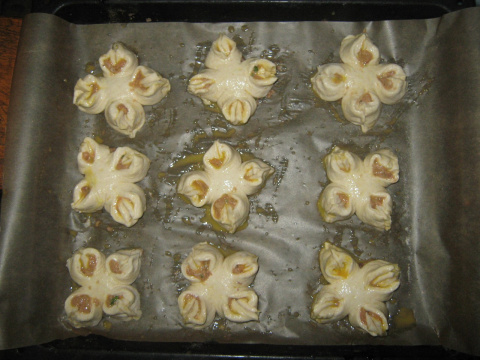 Пирожки-цветочки
