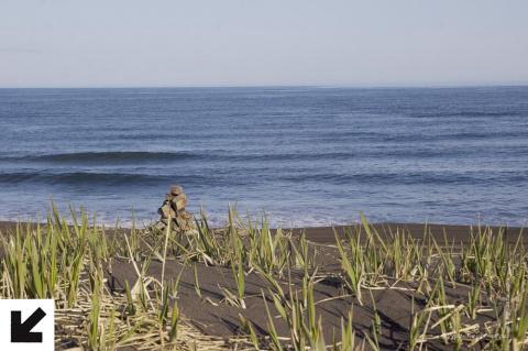 Черный песок на краю мира. Халактырский пляж
