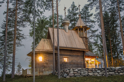 Храм Св. вмч Георгия Победоносца. Кайтайнен, Финляндия