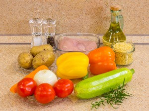 Рецепт: Суп с овощами, макар…