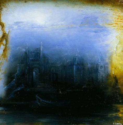 Таинственное представление о средневековье (Средневековый замок в тумане)