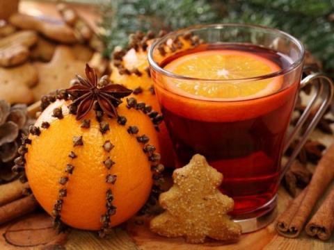Помандер-  Новогодний апельсин с гвоздикой