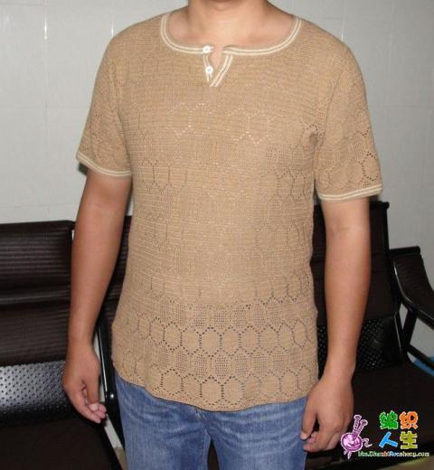Мужская футболка крючком
