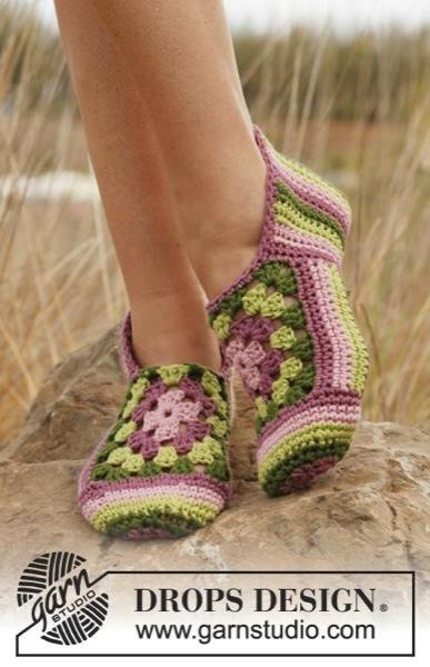 Тапочки Granny Rose от DROPS…