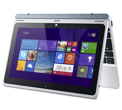 Гибрид Aspire Switch с опциями ноутбука и планшета на Windows 8.1