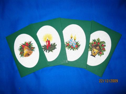 Вышитые новогодние открытки