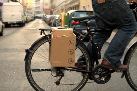 Корзина для покупок велосипедиста