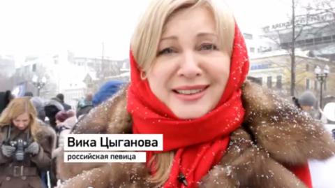 Вика Цыганова присоединилась к акции «Год Майдану. Не забудем! Не простим!»