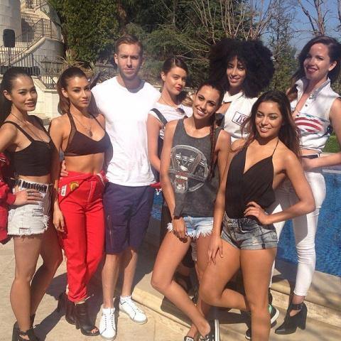 Calvin Harris снимает клип на 'Summer'
