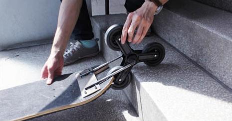 На скейте - по ступенькам