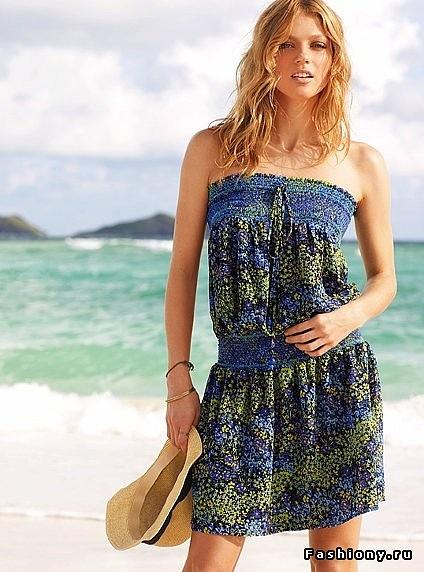 длинные летние платья и