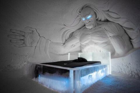 Невероятно красивый ледяной …