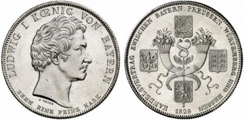 Исторические талеры Людвига I Баварского. Часть 1