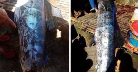 На Филиппинах поймали рыбу с татуировками