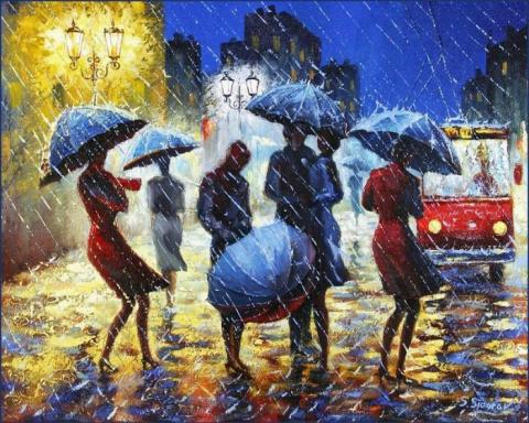 По радуге дождя, художник Stanislav Sidorov