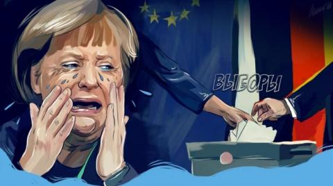 Русские немцы против Меркель