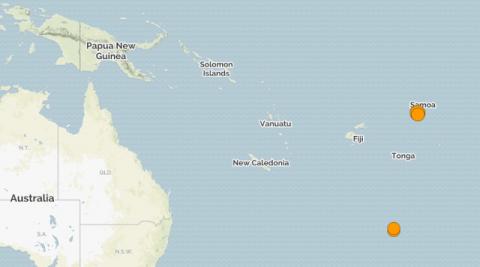 Самоа. Землетрясение магнитудой 6