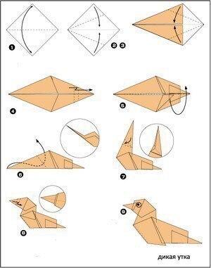 Простые оригами для детей