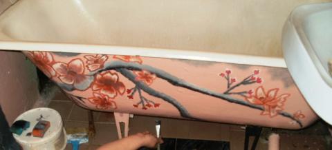 Украсила ваную комнату.