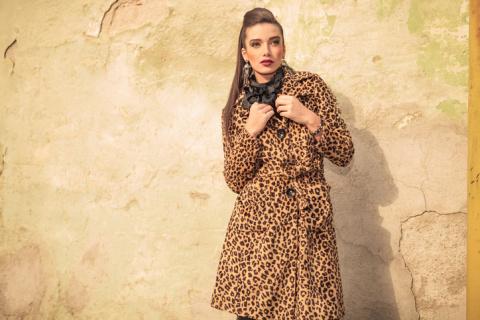 С чем носить леопардовое пальто?