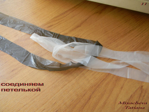 Мастер-класс по вязанию сумочки из пакетов