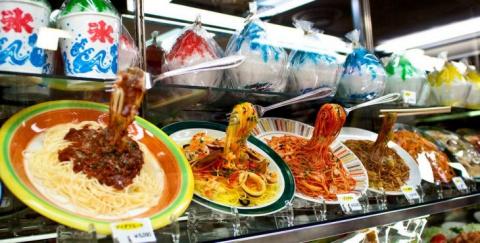 Пластиковая еда в Японии