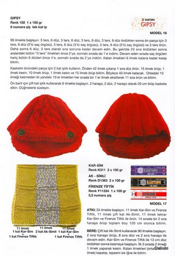 Вязанные кепки