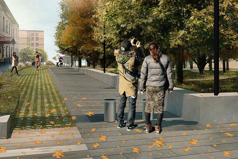 Между Ленинским проспектом и парком Горького появится новая пешеходная зона