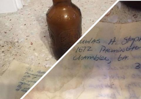 Послание в бутылке нашло адресата спустя 36 лет