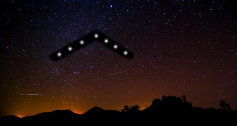 Американец рассказал, что видел в небе изменяющий форму и размеры НЛО