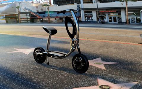 Гламурный велосипед с sim-картой