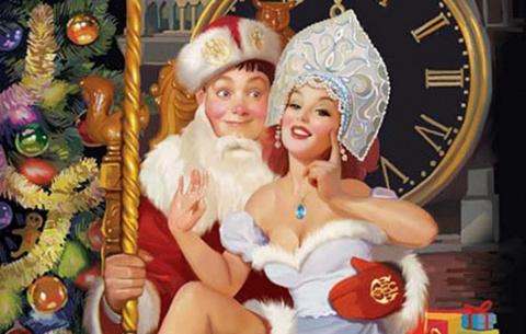 Анекдоты про Снегурочку и Деда Мороза