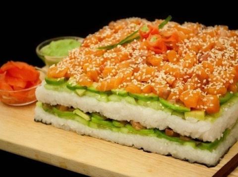 Суши-торт: это так просто