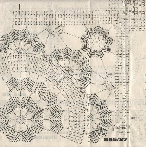 Прямоугольные салфетки крючком - подборка