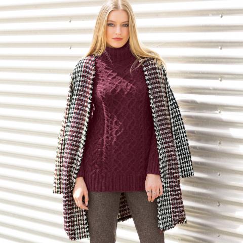 Узкий свитер с узором из «ко…