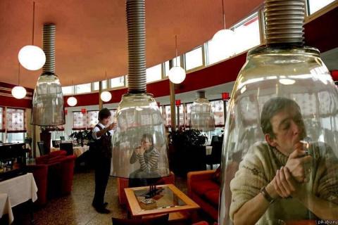 Места для курения в Японии..
