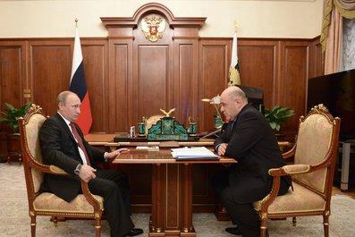 Рабочая встреча с руководителем Федеральной налоговой службы Михаилом Мишустиным