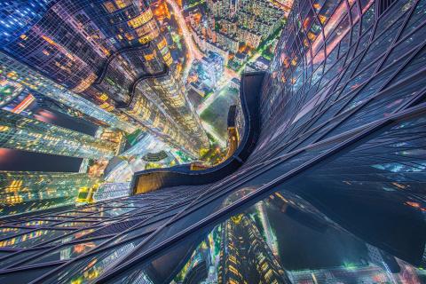 Прекрасные виды городов с высоты