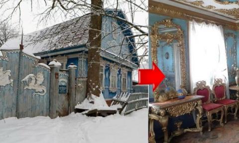Есть в брянской глубинке домик. А внутри у него -  реально царские покои. И даже трон есть!