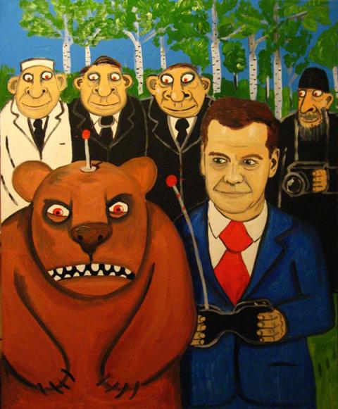 Традиции русского лубка в творчестве Васи Ложкина