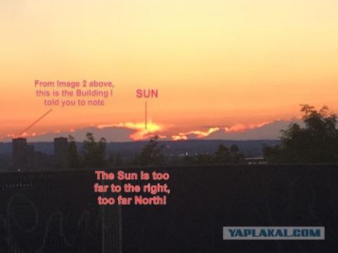 Ось Земли сильно сдвинулась, Солнце заходит НЕ ТАМ! И это видят уже многие